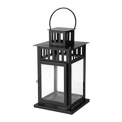 Black Table Lantern - inc. candle
