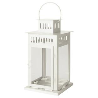 White Table Lantern - inc. candle