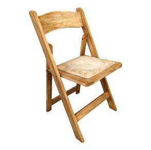 Folding Chair - Natural Wood