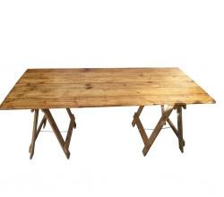 Rustic Trestle Table - $70