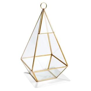 Pyramid Prism Table Lantern - inc. candle