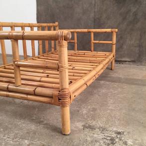 Vintage Bamboo Lounge - 3-Seater