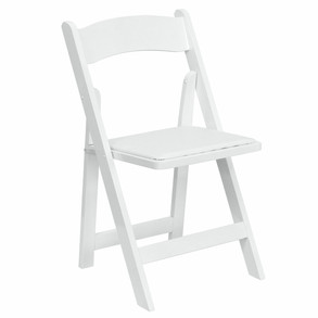 Folding Chair - White/Black