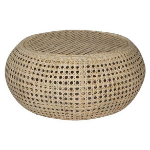 Palm Springs Rattan Side Table - $120