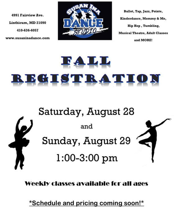Come Dance With Us This Fall!