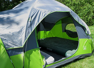 rental tent with rain fly
