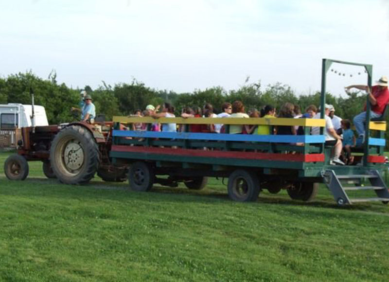Renfrew Camping hay wagon ride