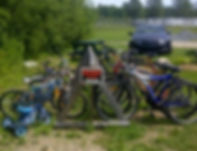 bikes for rent at Renfrew Camping