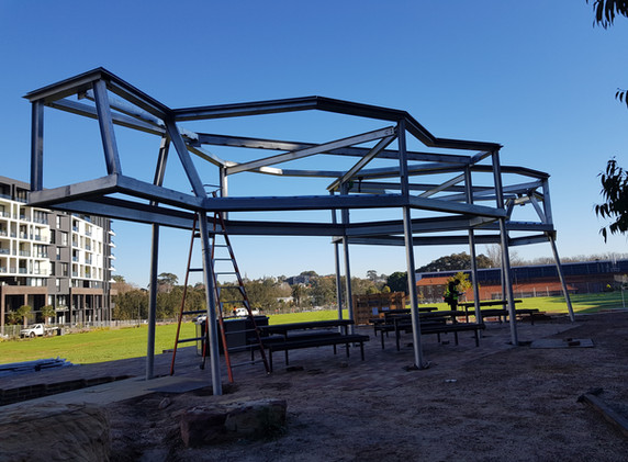 Harold Park Shelters Construction