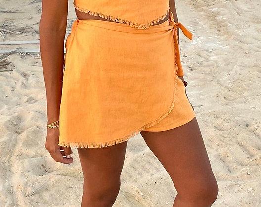 Sunset Walk Shorts in Tangerine