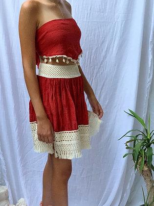 Frillu Brick Skirt
