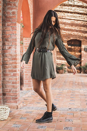 Made for Fall Dress in Olive