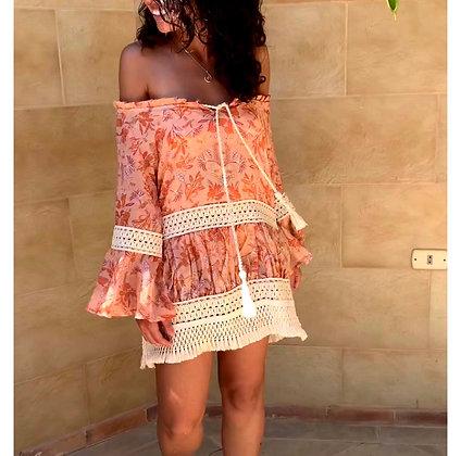 Frillu Peach Tezrin Dress