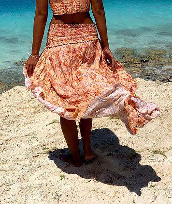Spell On Me Peach Tezrin Skirt