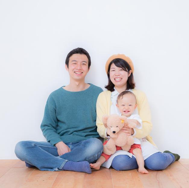 子供+家族写真
