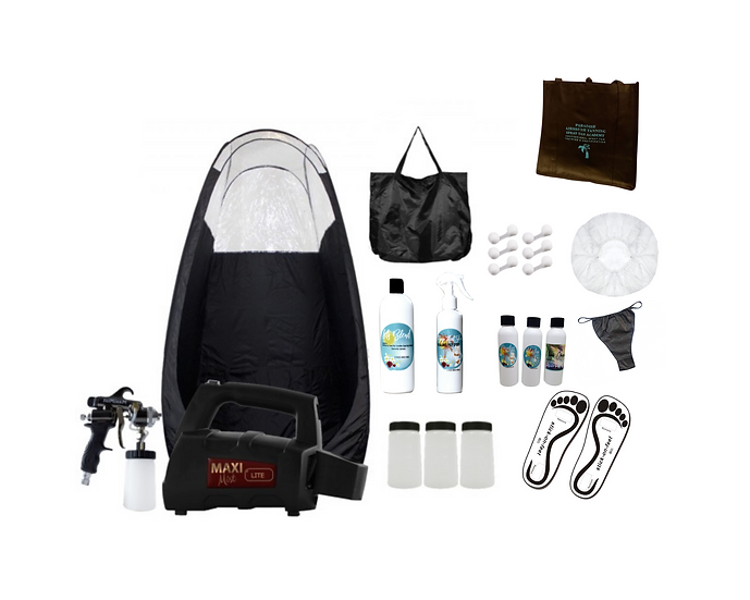 MaxiMist Lite Pro Spray Tan Starter Kit & Private In-Person Training