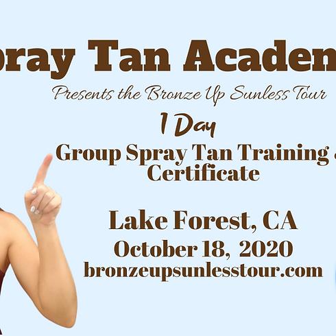Bronze Up Sunless Tour - Spray Tan Training - Beginners & Contouring Course