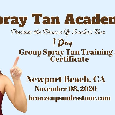 Bronze Up Sunless Tour - Spray Tan Training - Beginners & Basic Contouring Course