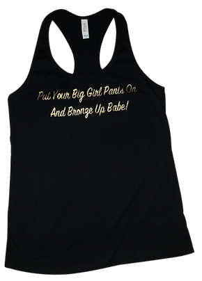 Bronze Up Babe Razor Back Tank Top