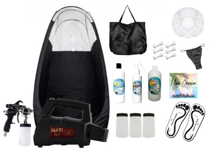 MaxiMist Lite Pro Spray Tan Starter Kit & Private Skype Training