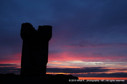 Silhouette of Moher Tower on Hag's Head, Liscannor (Ireland)