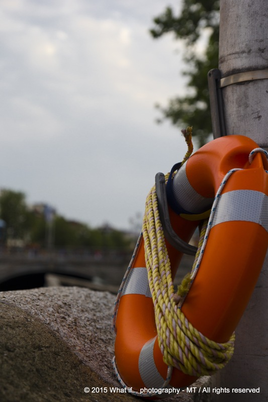 Buoy on Ellis Quay, Dublin (Ireland)