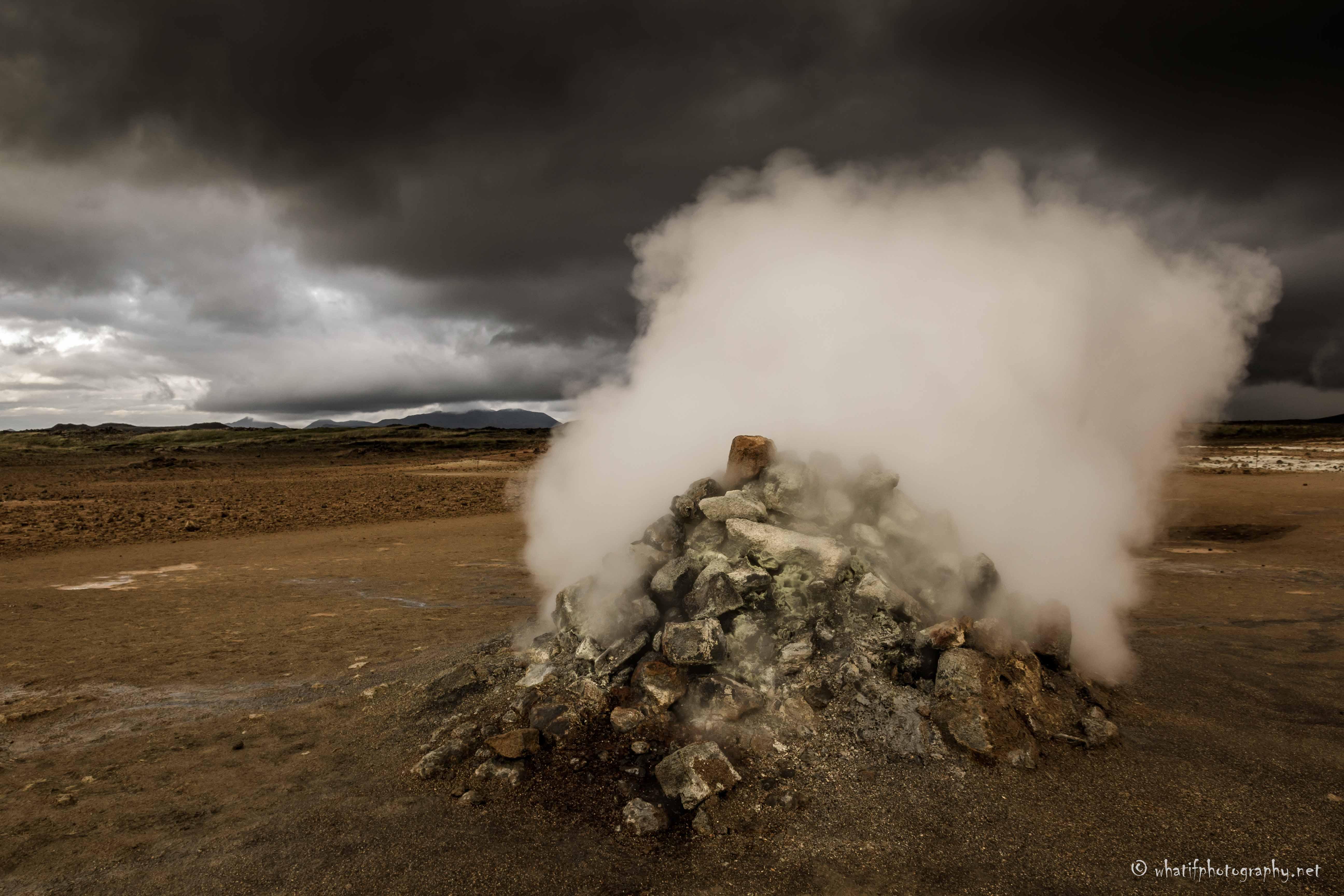 Fumaroles at Namaskard, Iceland