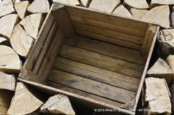 Wooden box stuck in firewood-Durbuy