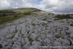 Hard way to Mullaghmoore mountain at Burren national park (Ireland)