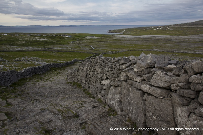 Way to the fortress of Inishmore, Aran Islands (Ireland)