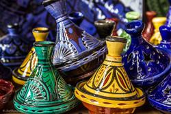 colorful Moroccan tajines