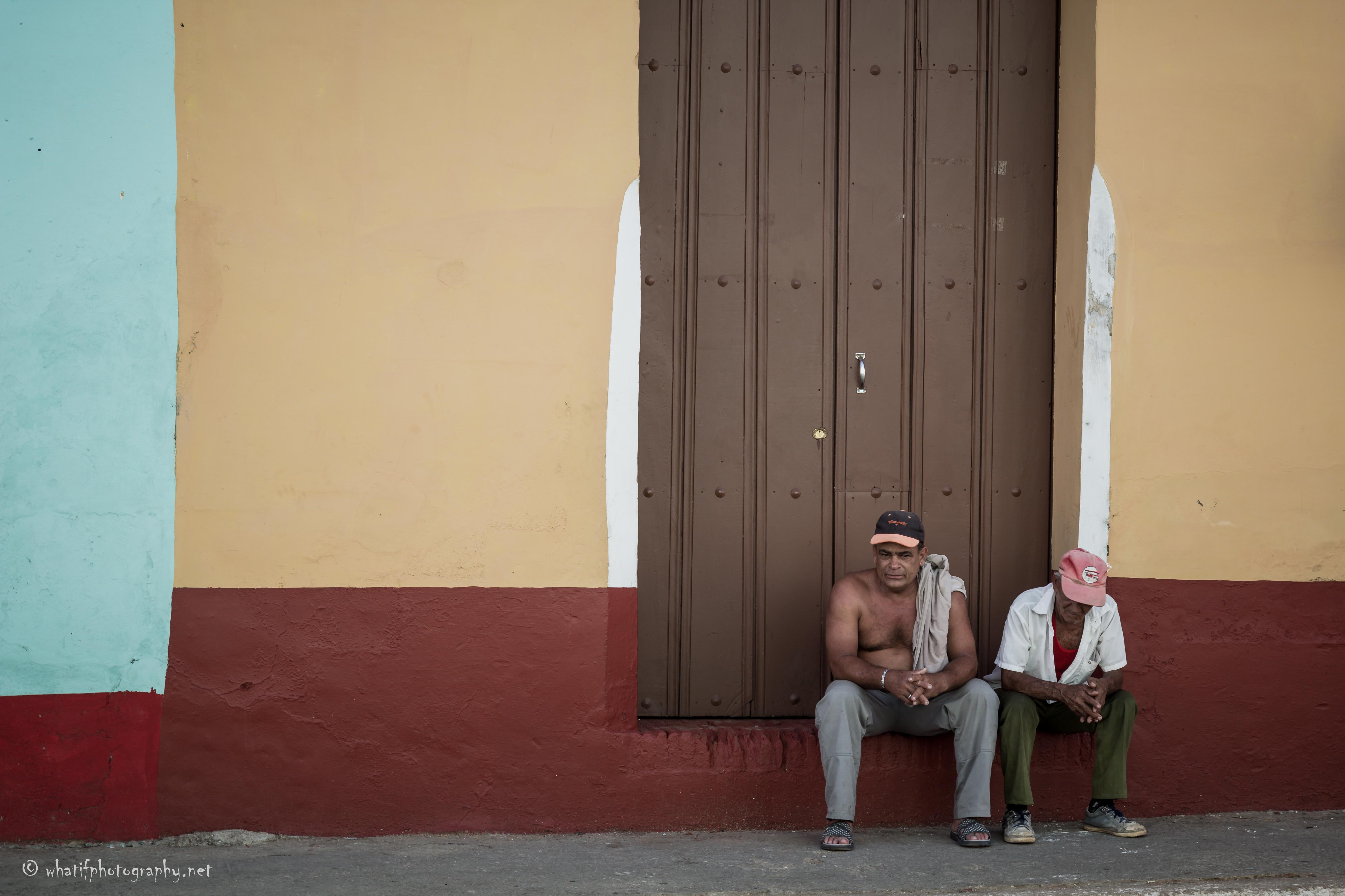 Waiting in colourful Cuba