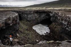 Lava tube caving, Iceland