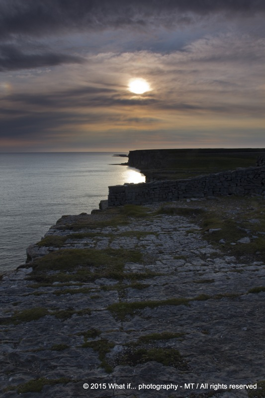 Sunset on Dún Aonghasa, the ringfort of Inishmore - Aran Islands (Irela