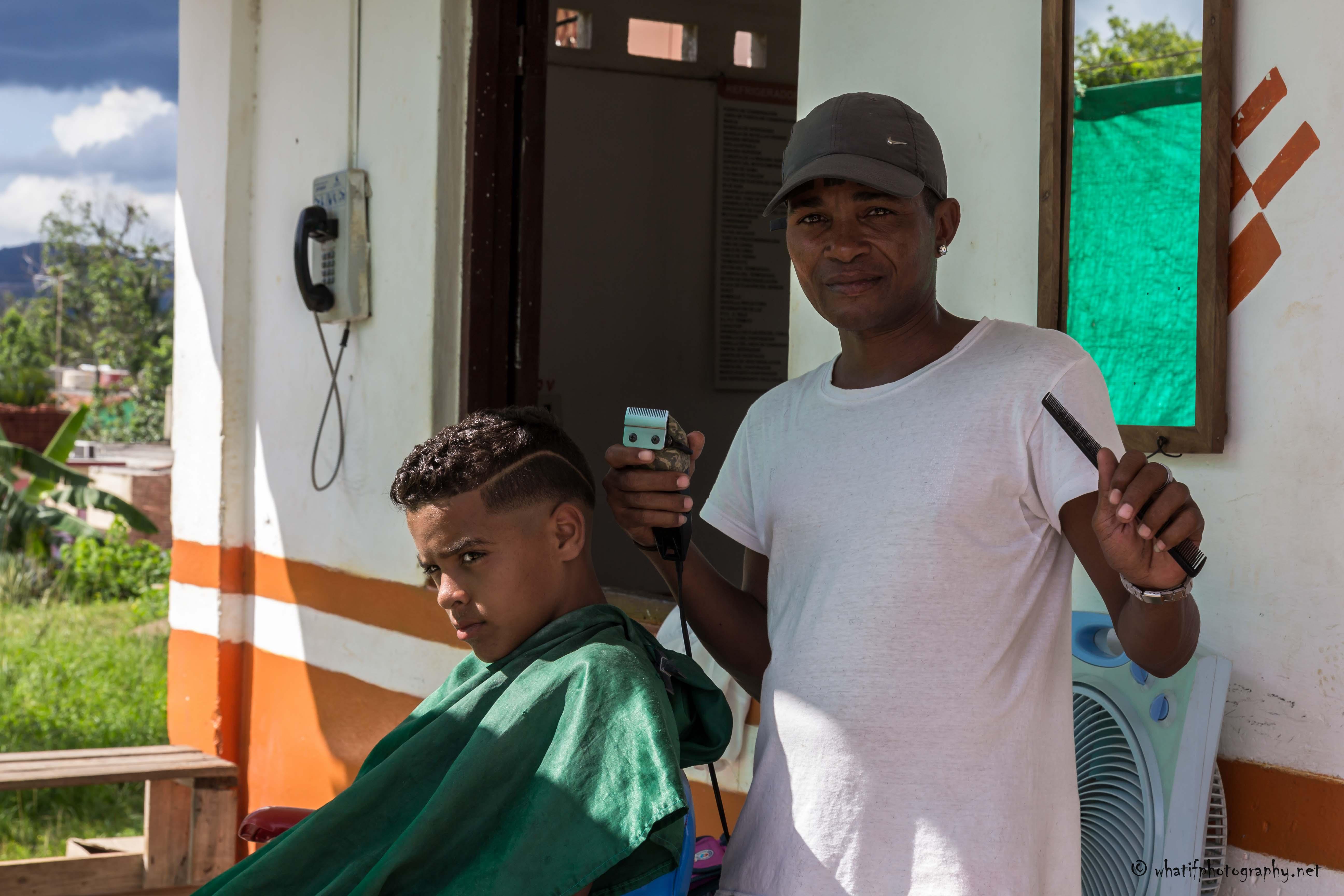Hairdresser from Vinales