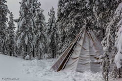 Tipi in the middle of nowhere