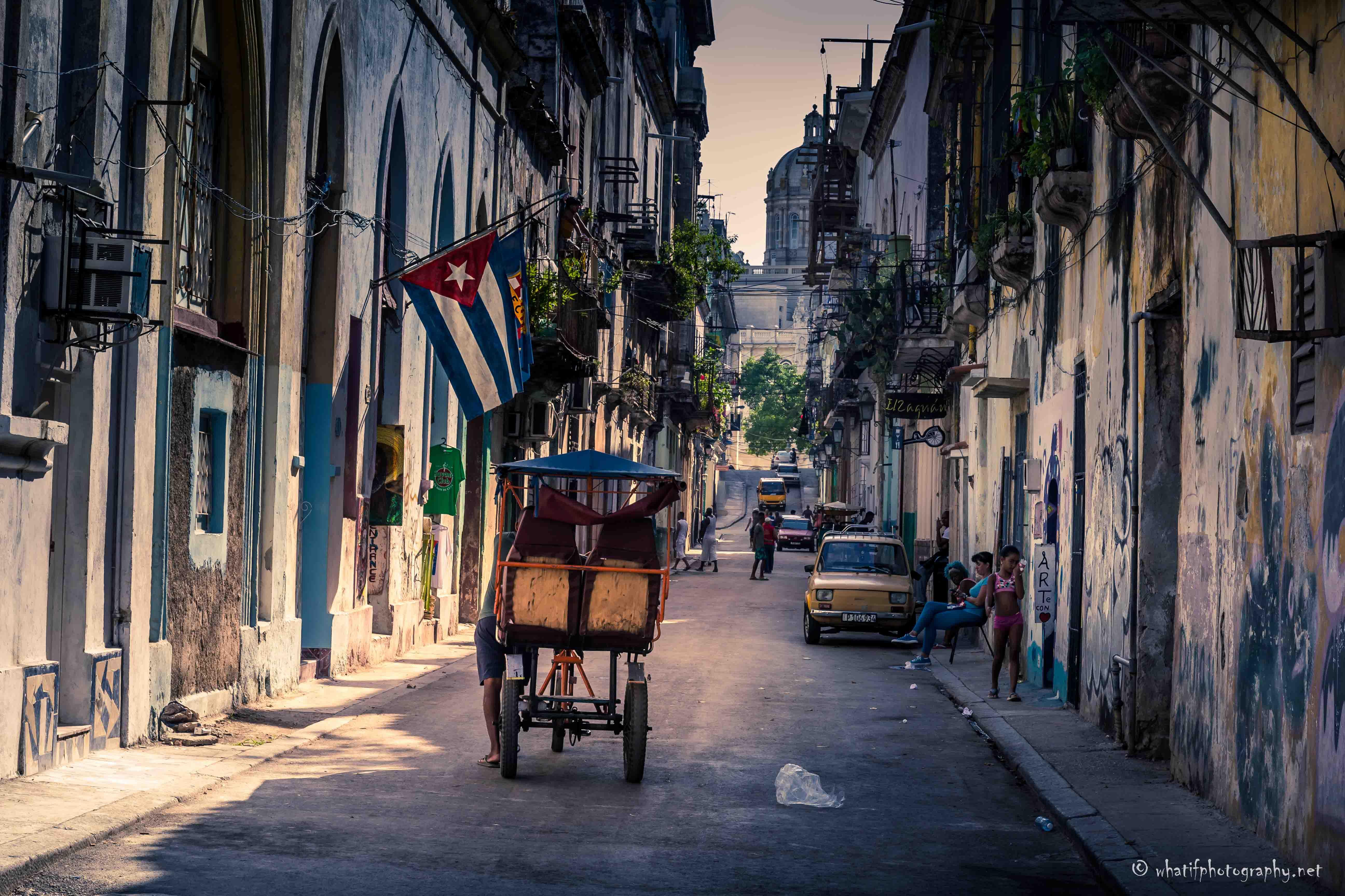 Busy street life of Havana