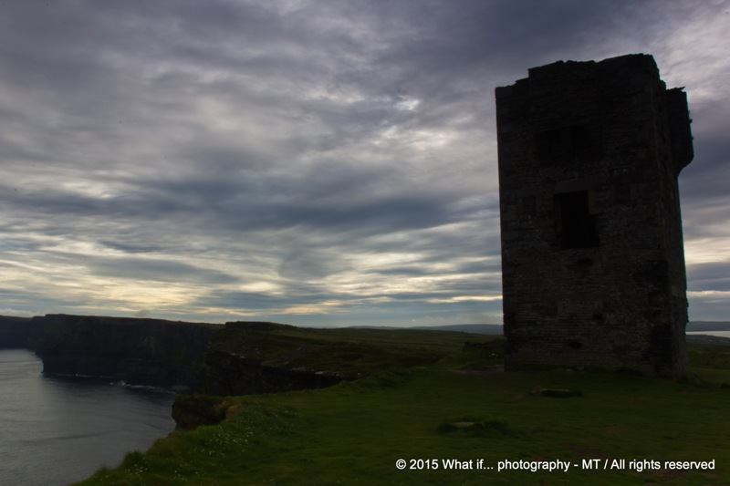 Moher Tower ruins on Hag's Head, Liscannor (Ireland)