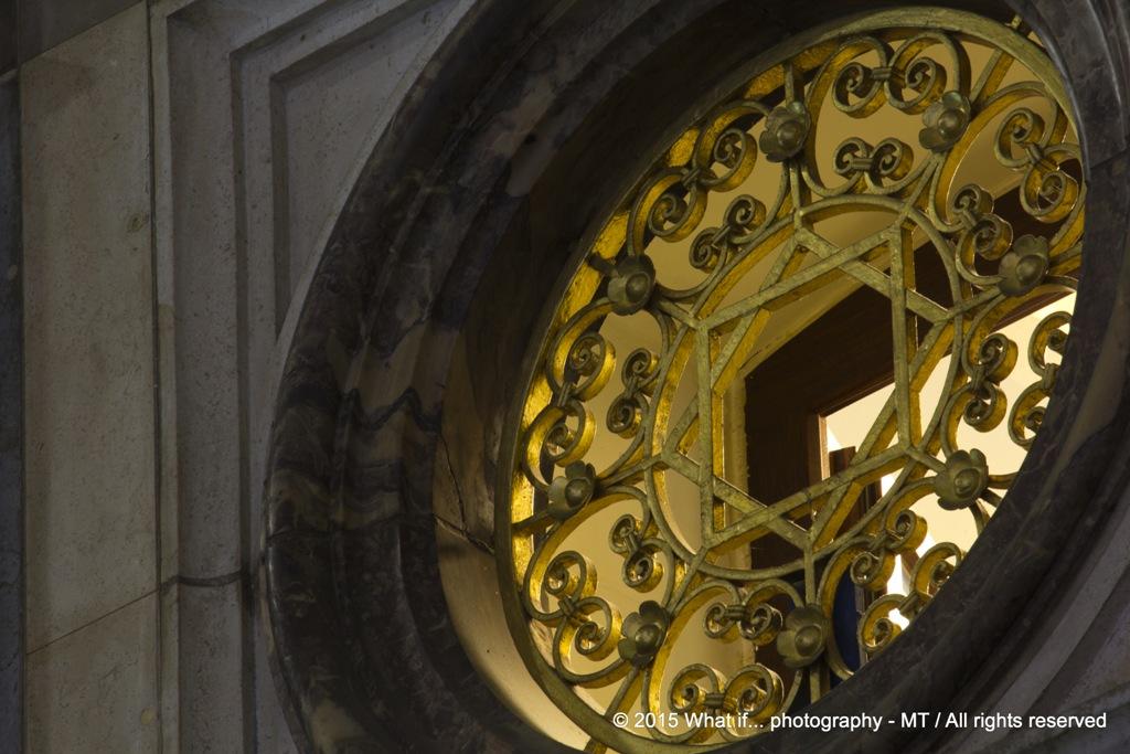 Star window in Antwerp Central Station