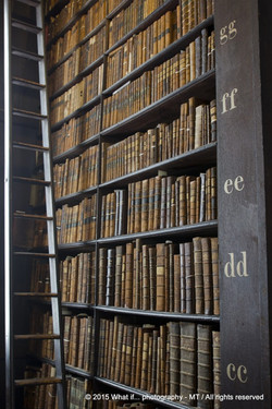 Old books at library, Trinity College Dublin (Ireland)