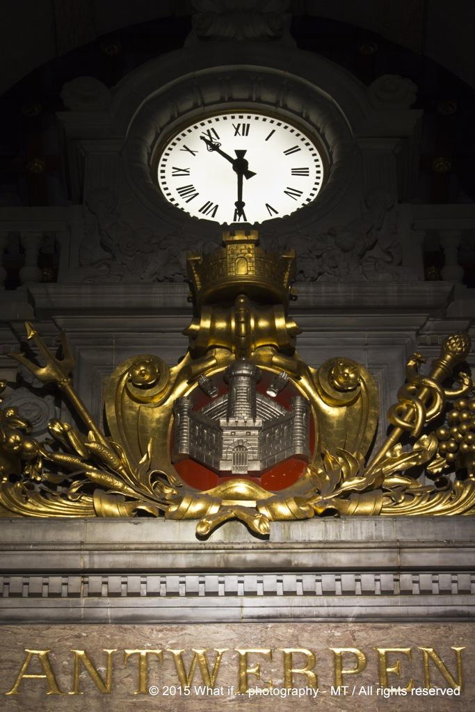 Clock Antwerp Central Station