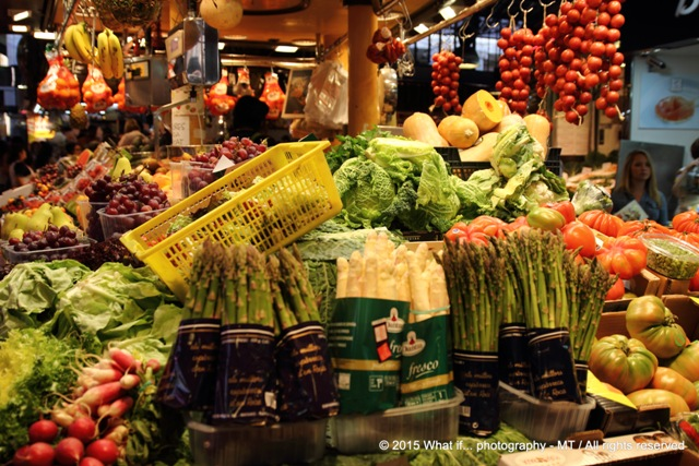 Vegetable market - la boqueria