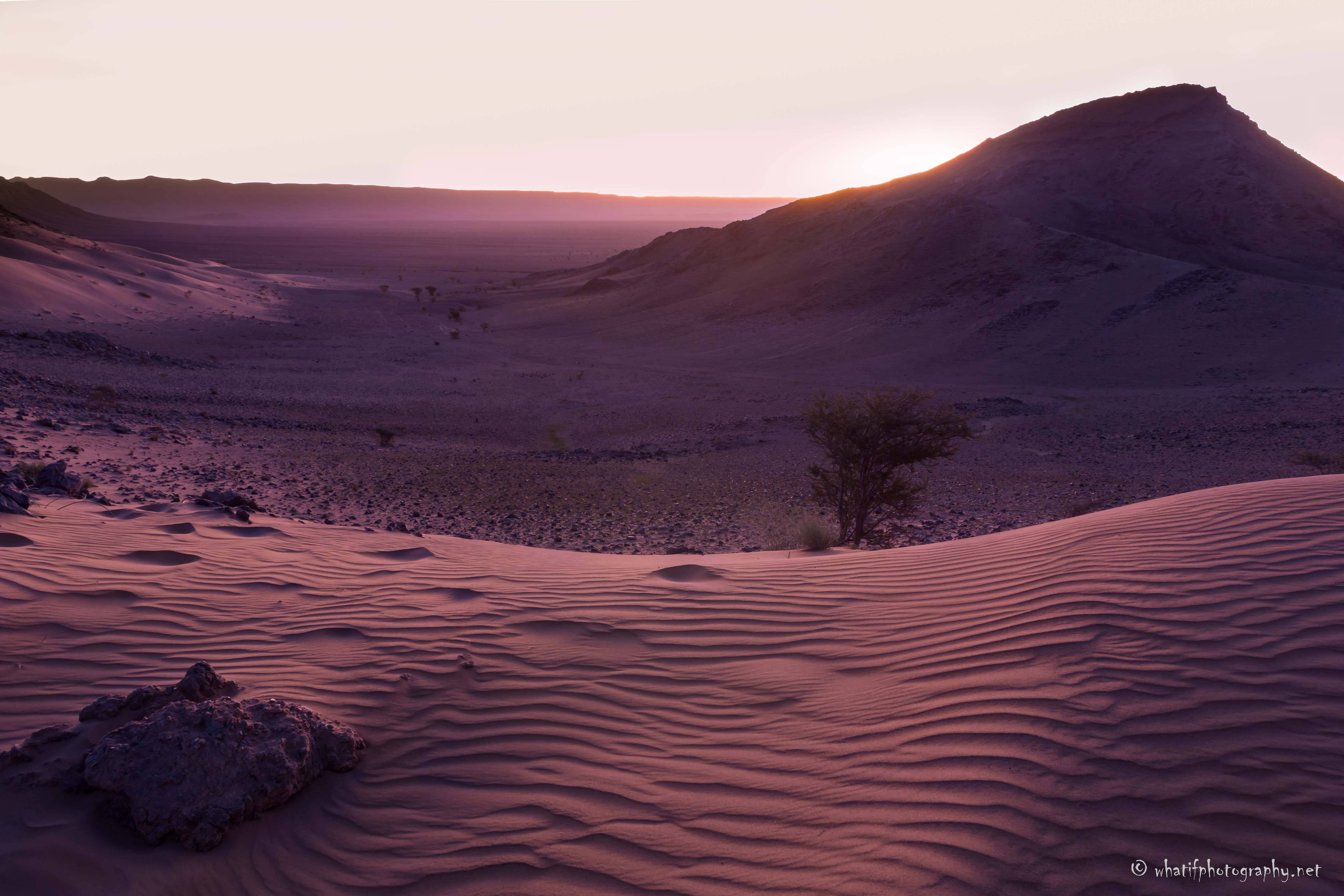 Magical Sunrise over the Sahara Dunes