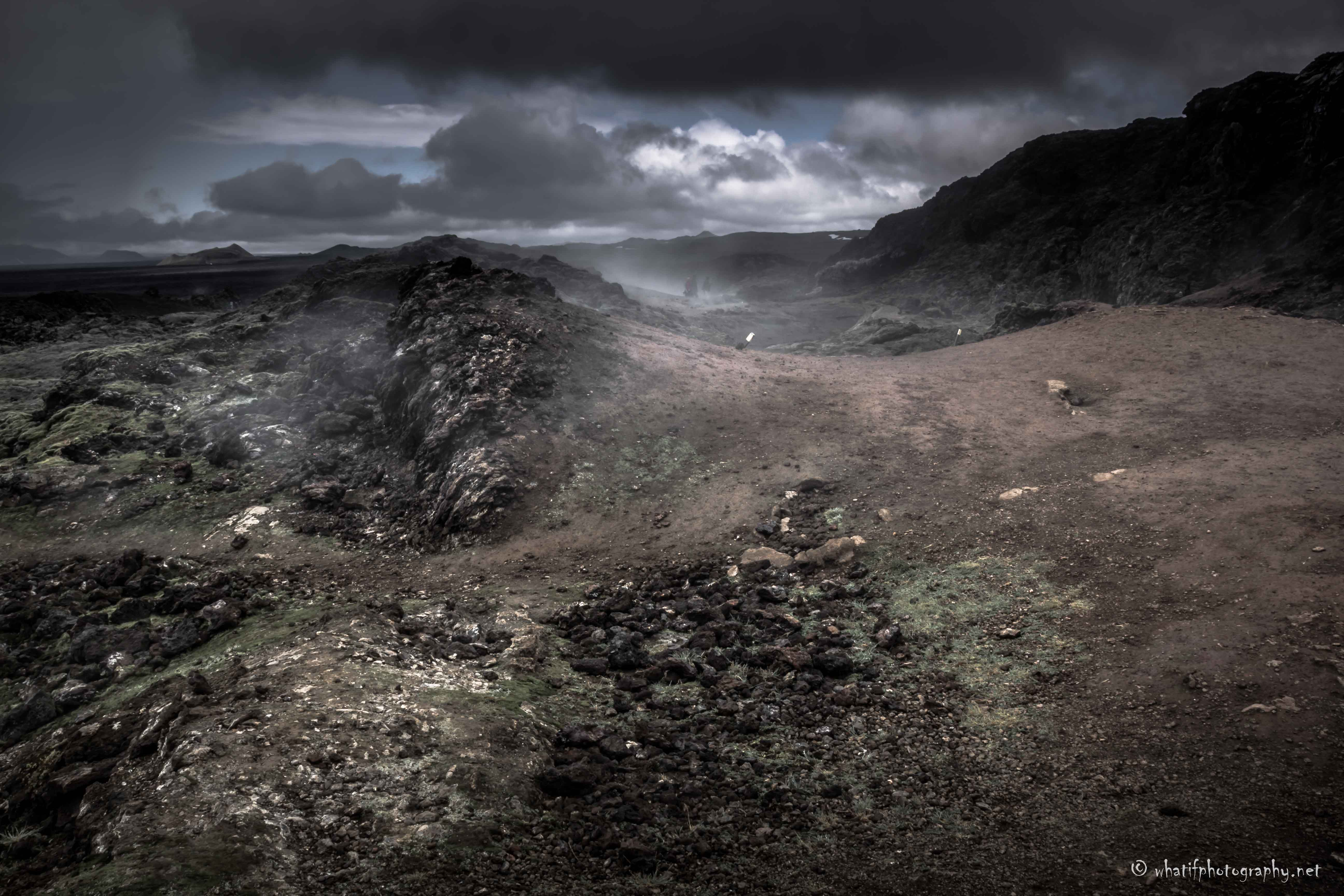 mysterious road, Krafla lava fields, Ice