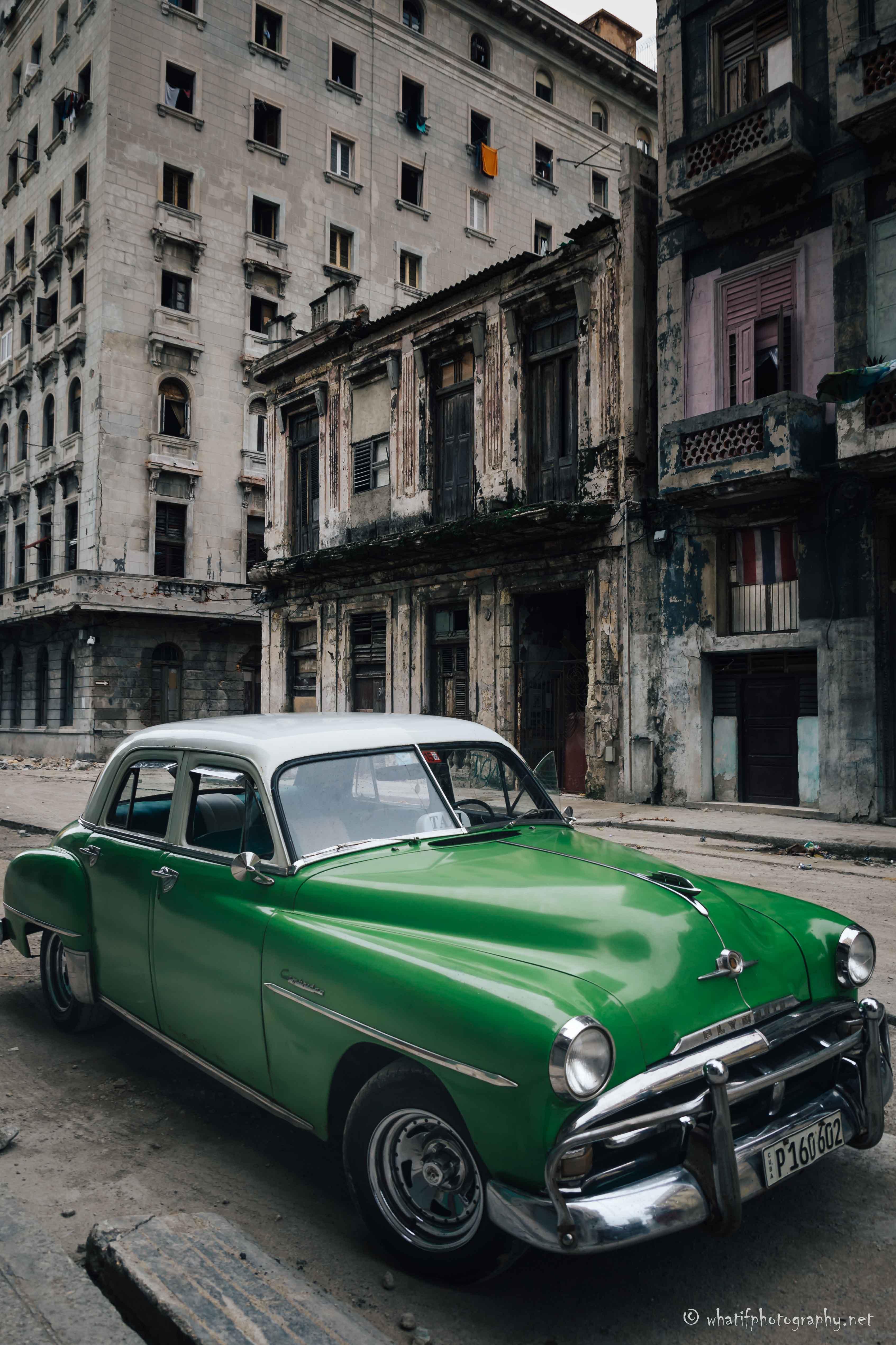 Old cuban taxi car