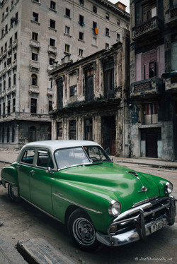 Old cuban taxi car
