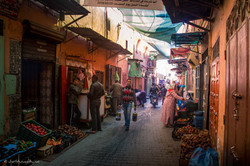 One of the streets in Marrakesh