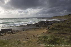 Irish weather on the beach, Fanore (Ireland)