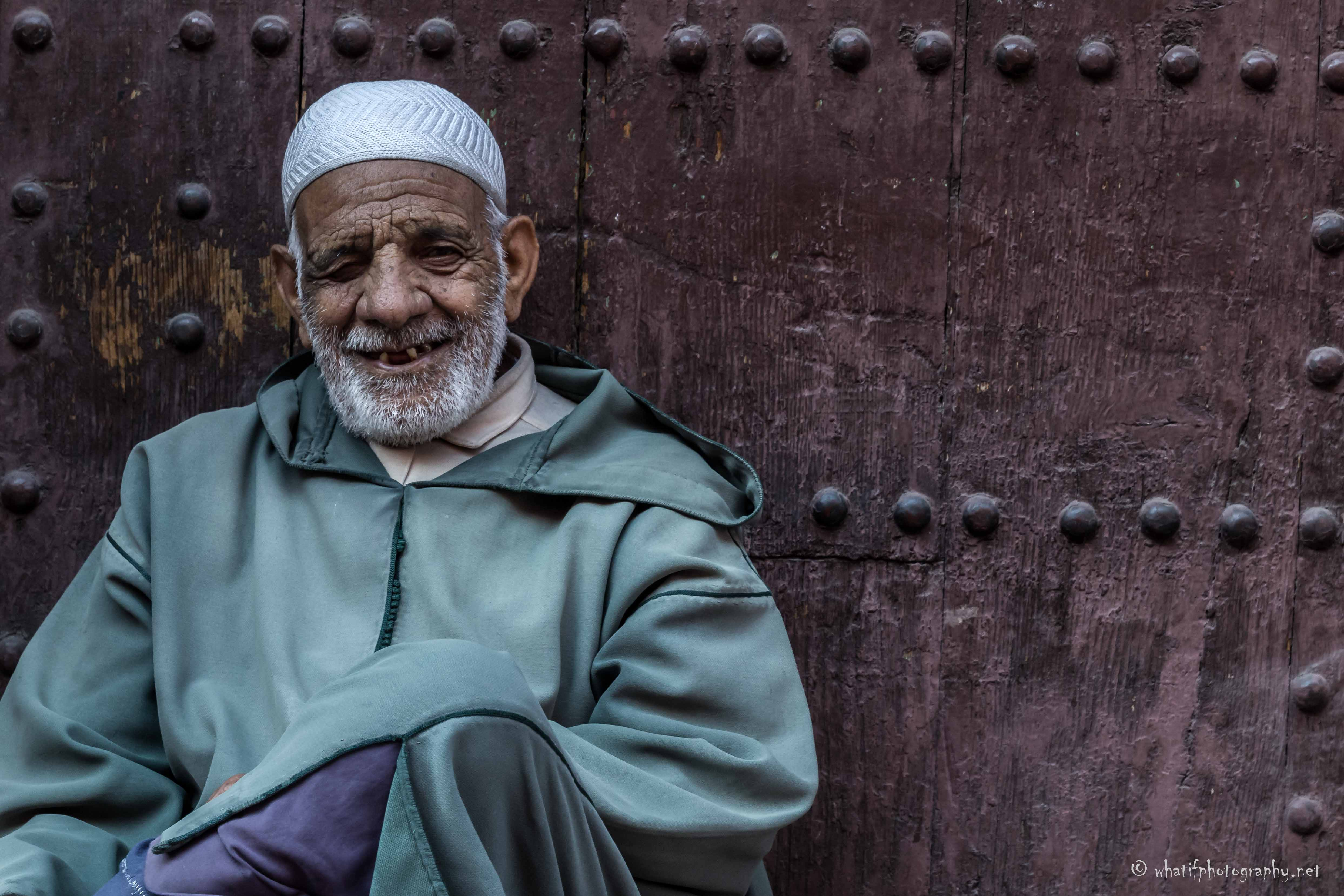 Happiness in moroccan street