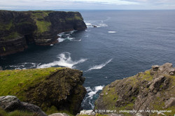 On top of the cliffs at the start of the Wild Atlantic Way, Clare (Irel